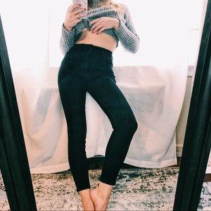 Black zara skinny jeans - size 24